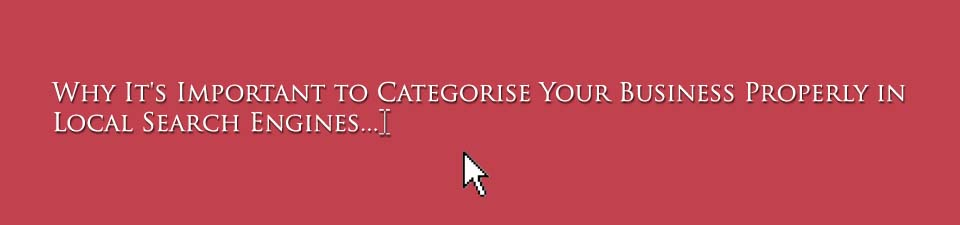 Categorising Your Business