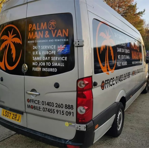 Logo of Palm Man and Van