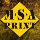 Logo of MSA Print Printers In Cradley Heath, West Midlands
