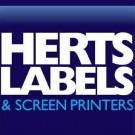 Logo of Herts Labels  Screen Printers